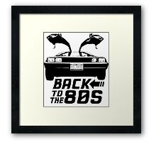 Back To The 80s Delorean  Framed Print