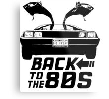 Back To The 80s Delorean  Metal Print