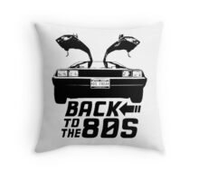 Back To The 80s Delorean  Throw Pillow