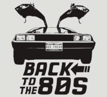 Back To The 80s Delorean  by maniacreations