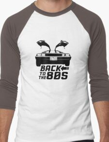 Back To The 80s Delorean  Men's Baseball ¾ T-Shirt