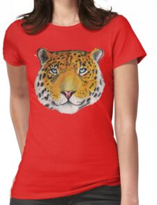 Leopard - Drawing Womens Fitted T-Shirt