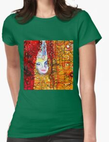 Bjork - Artwork by William Wright Womens Fitted T-Shirt