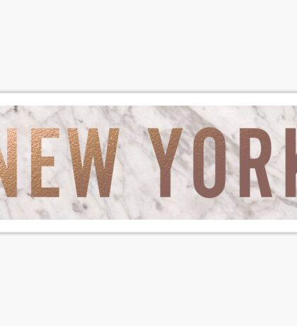 Rose Gold and Marble New York Sticker