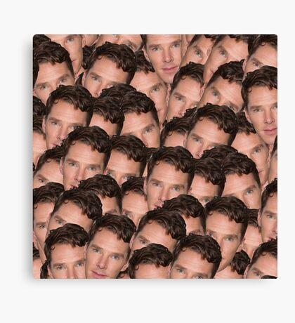 Benedict Cumberbatch Texture Canvas Print
