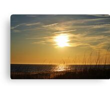 Sun About To Set Canvas Print