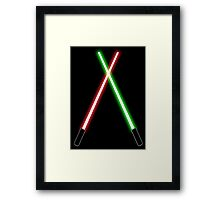 Lightsabers Framed Print