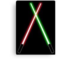 Lightsabers Canvas Print