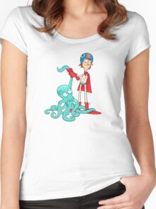 Octo-Wrestlin'! Women's Fitted Scoop T-Shirt