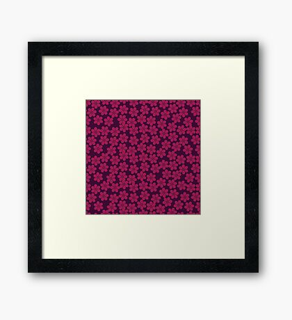 Spring Flowers in Plum and Violet Framed Print