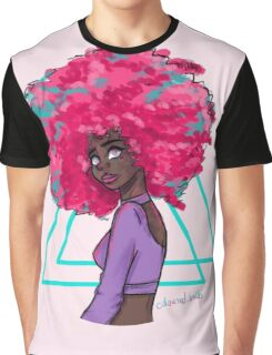 Neon Afro Graphic T-Shirt