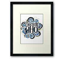 Whimsically Wibbly Wobbly Timey Wimey - Light Shirt Framed Print