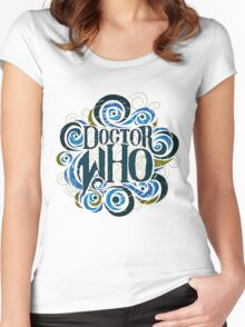 Whimsically Wibbly Wobbly Timey Wimey - Light Shirt Women's Fitted Scoop T-Shirt