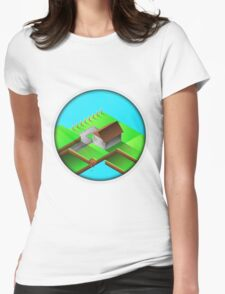 Homestead Design By Inkblot Womens Fitted T-Shirt