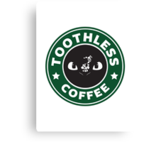 Toothless Coffee Canvas Print
