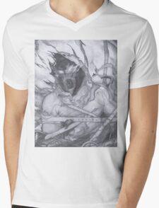 "Disturbed ""Asylum"" Pencil Sketch Mens V-Neck T-Shirt"