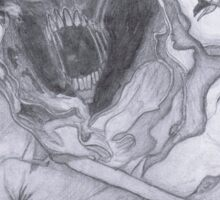 "Disturbed ""Asylum"" Pencil Sketch Sticker"