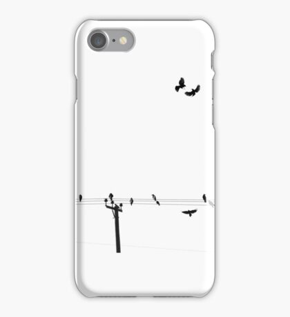 Raven Birds on a Wire iPhone Case/Skin