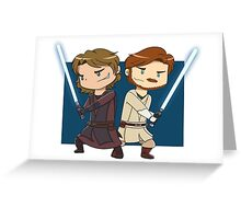 Master and Apprentice Greeting Card
