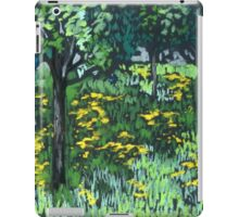 May flower field with dandelions iPad Case/Skin