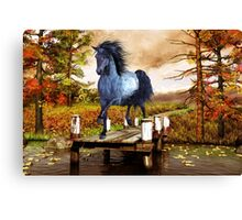Horse on the Lake Canvas Print