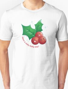 Cute Holiday Holly T-Shirt