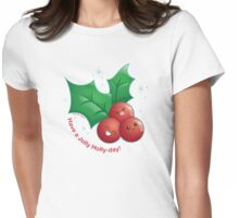 Cute Holiday Holly Womens Fitted T-Shirt
