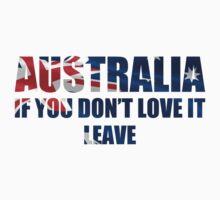 Australia Love It - Flag Cutout Baby Tee
