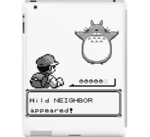 Wild NEIGHBOR appeared! iPad Case/Skin