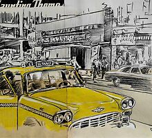 big yellow cab by Loui  Jover