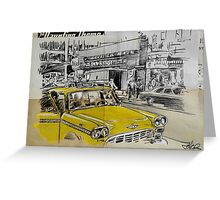 big yellow cab Greeting Card