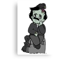 Nevermore, Zombie Edgar Allan Poe Canvas Print