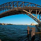 Sydney Harbour Bridge and Opera House by Erik Schlogl