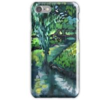 Late spring landscape with river Likhoborka and a willow tree iPhone Case/Skin