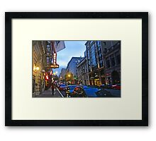 Bush Street Downtown Framed Print