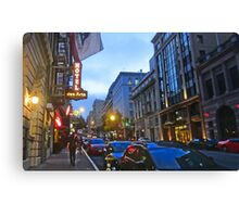 Bush Street Downtown Canvas Print
