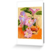 Rhododendron's flowers in a vase Greeting Card
