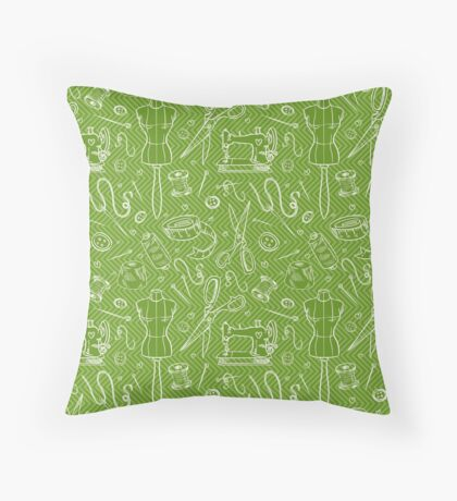 sewing  factory Throw Pillow