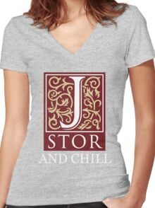 Jstor And Chill Women's Fitted V-Neck T-Shirt