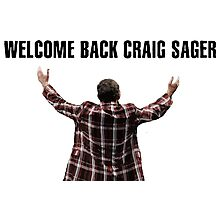 Welcome Back Craig Sager Tshirt Photographic Print