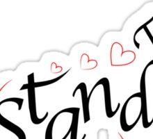 Stand tall heart giraffe Sticker