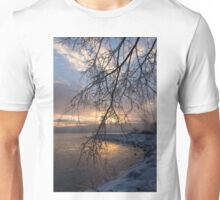 A Curtain of Frozen Branches - Ice Storm Sunrise Unisex T-Shirt
