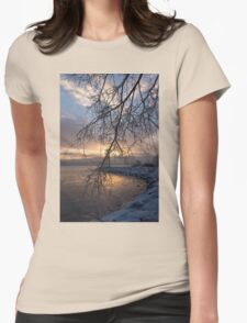 A Curtain of Frozen Branches - Ice Storm Sunrise Womens T-Shirt