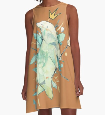 Polar bear king A-Line Dress
