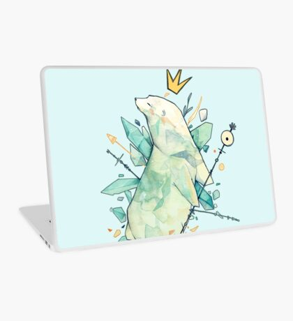 Polar bear king Laptop Skin