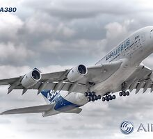 Airbus A380 Take-Off - Duvets, Cases, Pillows etc by © Steve H Clark Photography