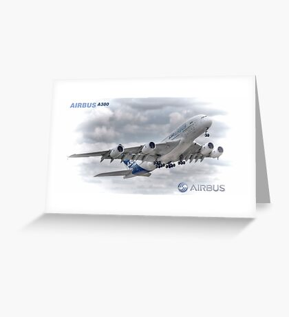 Airbus A380 Take-Off - Duvets, Cases, Pillows etc Greeting Card