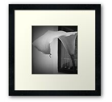 LILY IN BLACK AND WHITE Framed Print