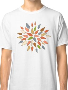 Abstract colorful flowers on white background. Classic T-Shirt