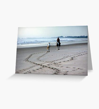 Beach and horses Greeting Card